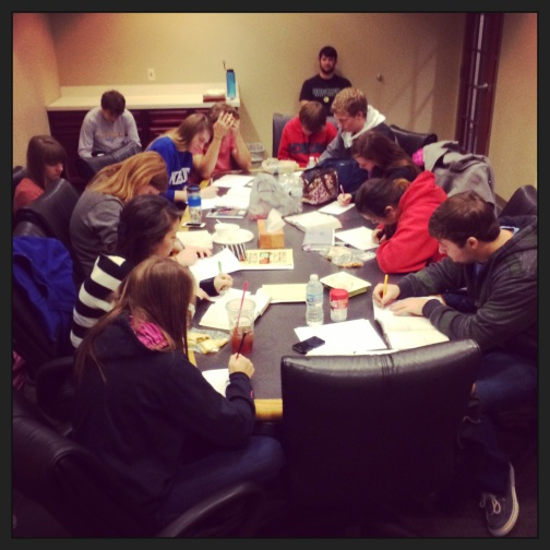 Troy helped train a group of student leaders at Horizon Christian School (Indianapolis).  They are being equipped to make disciples by missionary/trainer Jordan McGaughey (St Kitts) before they leave at the end of January.