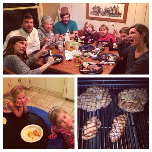 We enjoyed a special family steak night before Stephen & Katie left for Stuart, FL on Dec 30!