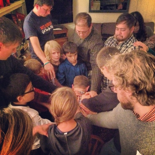 We hosted a home vision meeting for our partnering missionary David Cervenka (Tokyo, Japan).  He shared his story/vision and we prayed for them!