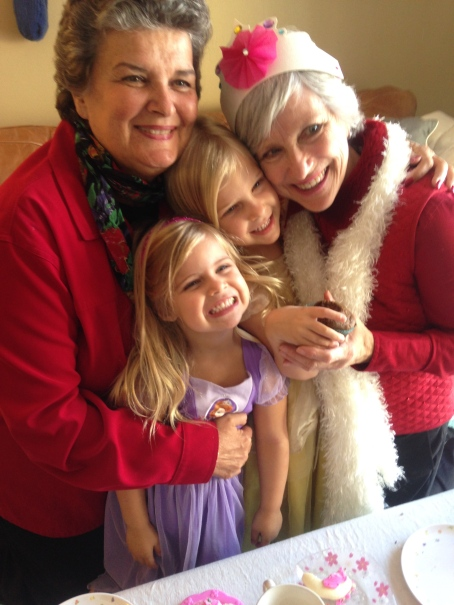 Aunt Amy hosted a Princess Birthday Party for Tessa (Dec 10, 5) and both her grandmas were able to attend!