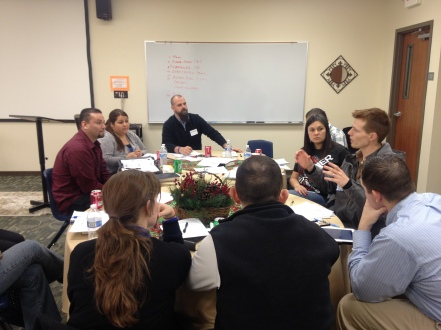 "Troy & Rachel facilitated an ""Iron-on-Iron"" with 6 groups of disciple-making leaders from different parts of Texas (Dallas, Austin, Houston) at the Mid-Level training in Austin, TX (Dec, 2013)."
