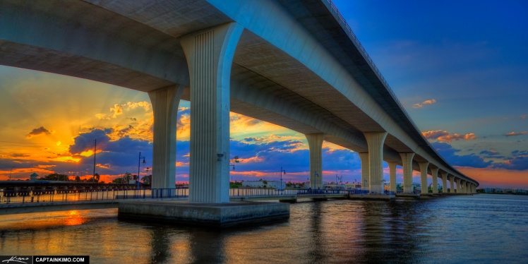 Sunset at Roosevelt Bridge Stuart Florida
