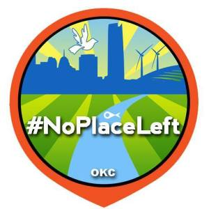 #NoPlaceLeft OKC Logo
